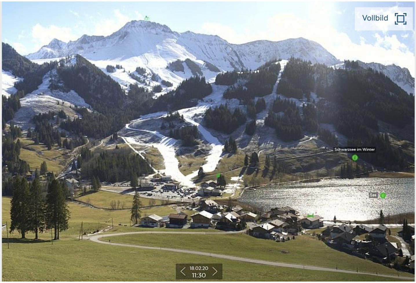 Skigebied Schwartszee op ca 1100 m hoogte
