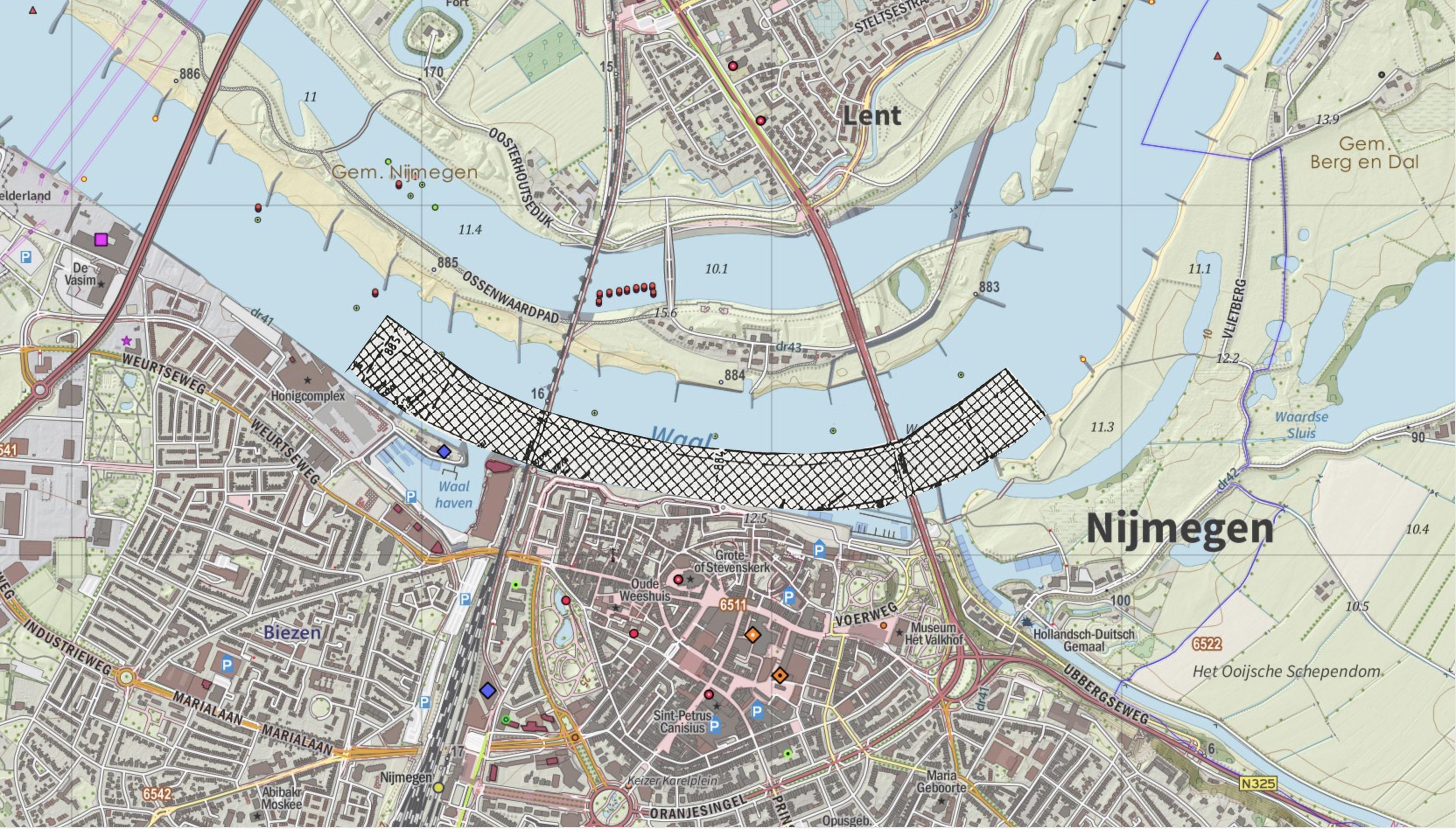 Locatie vaste laag bij Nijmegen