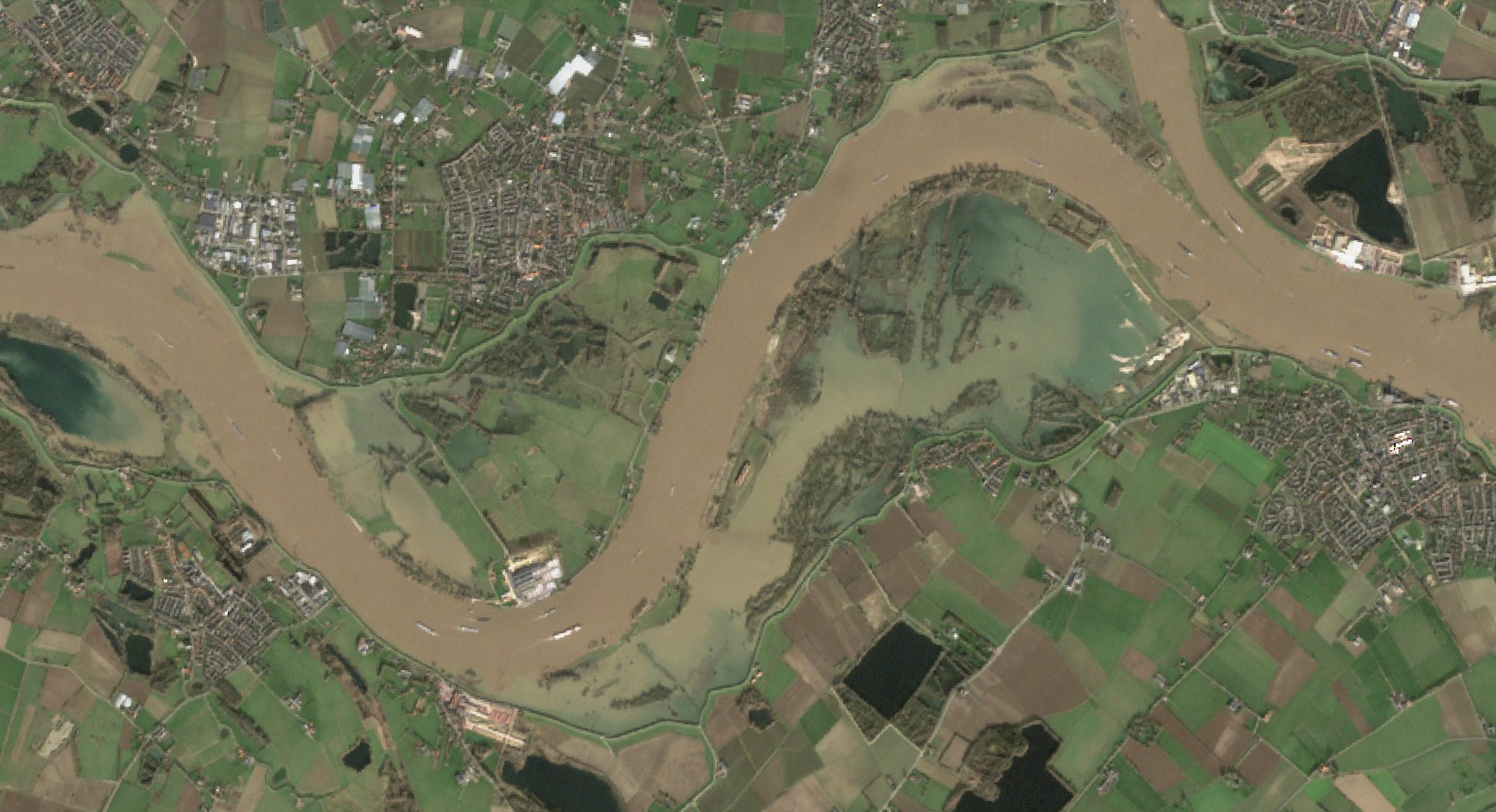 Satellietfoto van de Millingerwaard