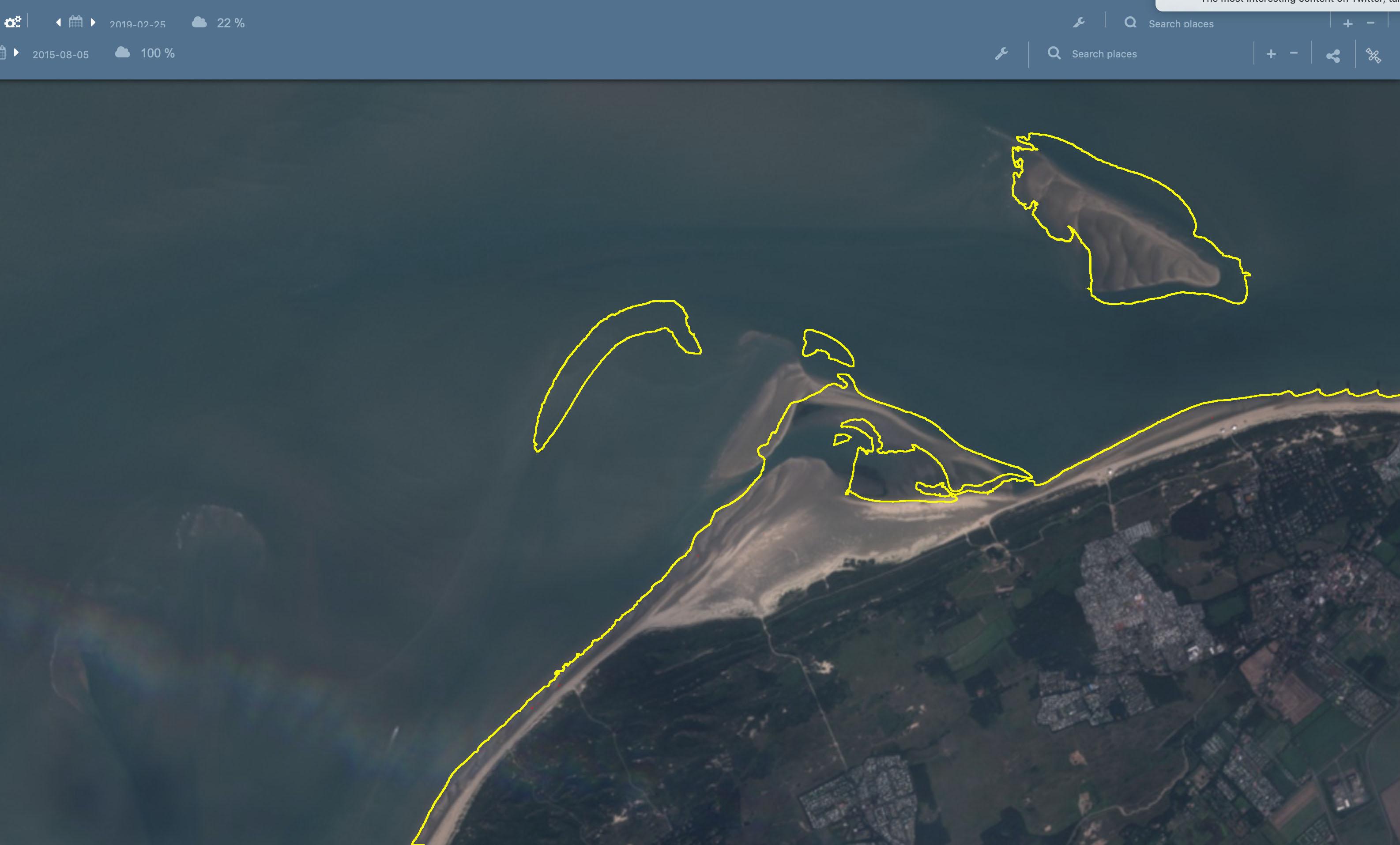 Veranderingen in de kust van Schouwen tussen 2015 en 2019