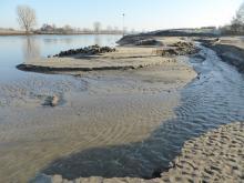 Erosie in de monding van de Oefeltse Raam