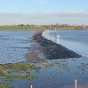 Drempel Nijmegen overstroomt bij Lobith 12,5 m